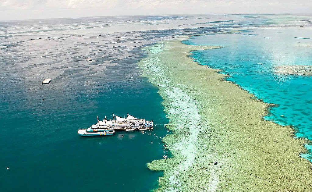 FROM ABOVE: The Fantasea Adventure Platform at Hardy Reef.