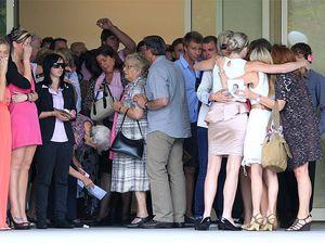 Hundreds say goodbye to Maddie