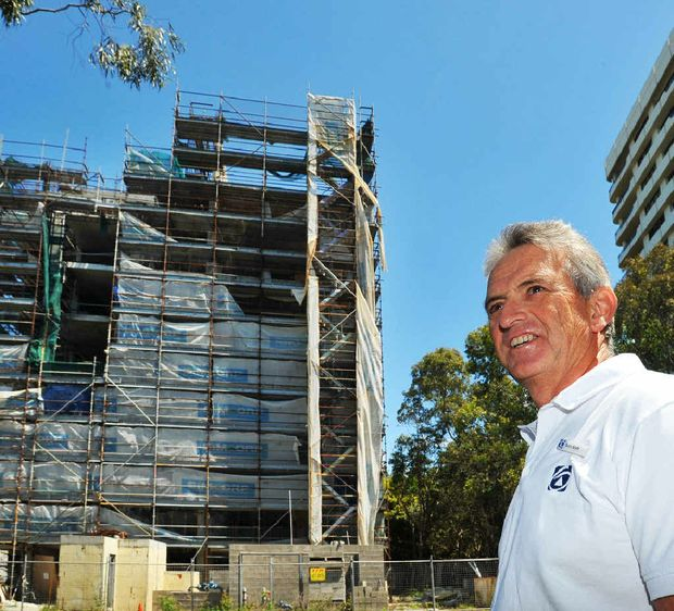 First National Coffs Harbour principal Barry Booth has listed the stalled Beaches high-rise at Park Beach.