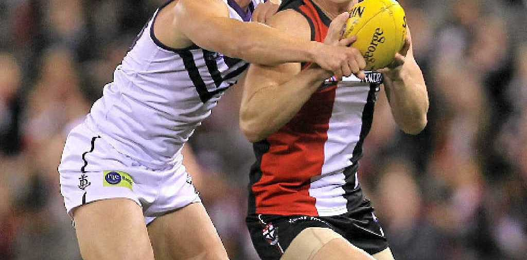 IN THE ACTION: Former Mackay player David Armitage played all but one match of the AFL season for St Kilda in 2011.
