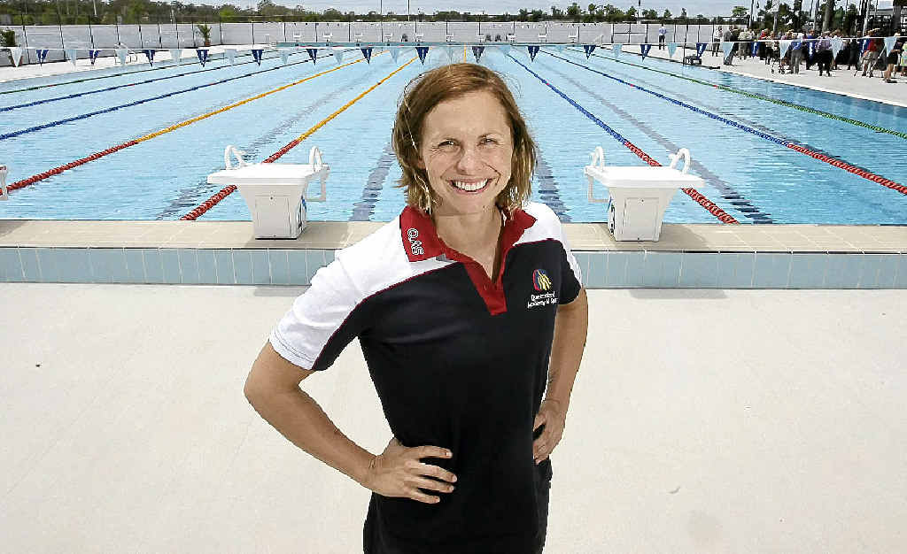 Libby Trickett checks out the University of the Sunshine Coast's new 10-lane pool.