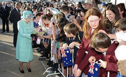 The Queen and the Duke of Edinburgh meet the public in Canberra.