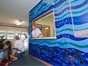 Dolphin mural bridges gap