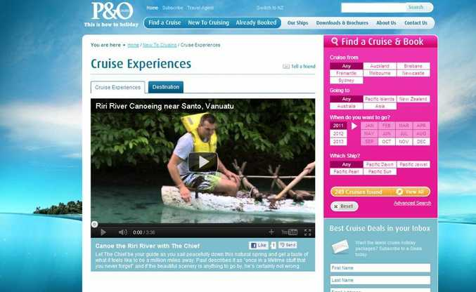 P&O; Cruises' new online cruise experience videos.