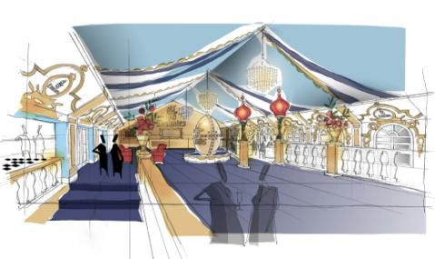 An artists impression of the marquee.