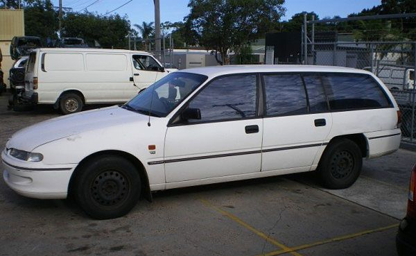 Police are appealing for public assistance in locating a white 1996 VS Holden Commodore station wagon similar to the one that appears here.