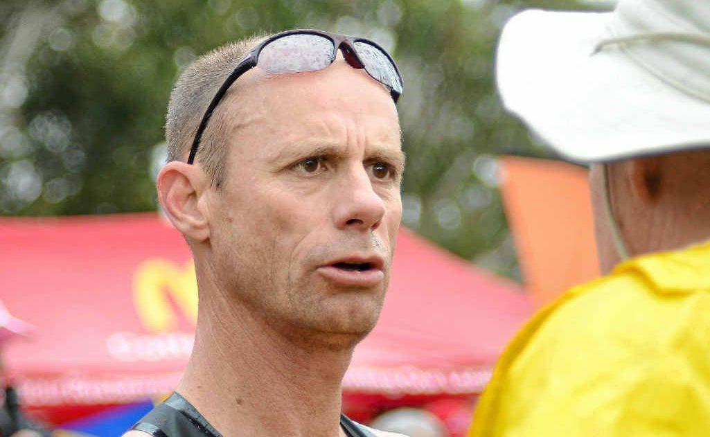 Bendigo Bank Half Marathon winner Steve Moneghetti with race director Mick Maley.