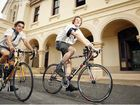 St Edmund's seniors Thomas Gimpel and Ben Gadsby prepare for the annual Skool to Skoolies bike ride.