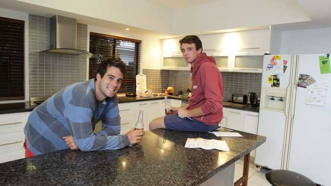 Adam Beetham and Matt Thornton share a rental house in Wurtulla.