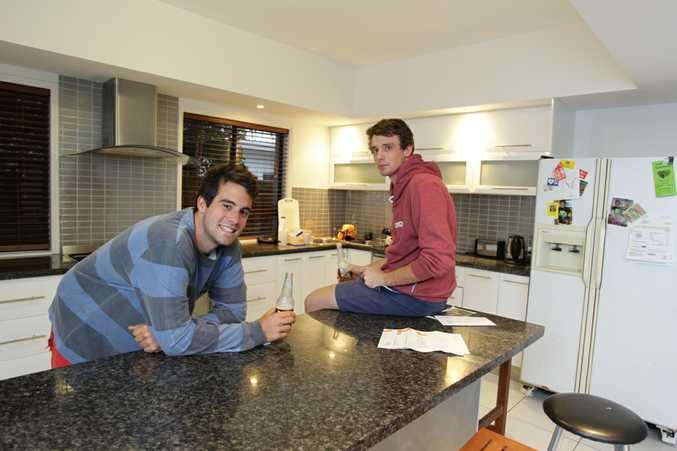 Adam Beetham and Matt Thornton share a rental house in Wurtulla.