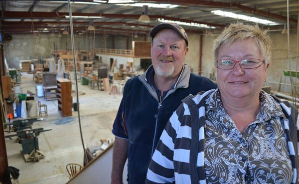 MOVING ON: Ross and Vicki Glass of Country Cottage Furniture are closing the business.