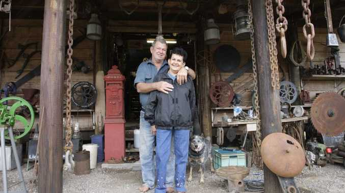 Revleigh and Bernie Daniels with in their private Museum at Chevallum. Photo: Cade Mooney / Sunshine Coast Daily