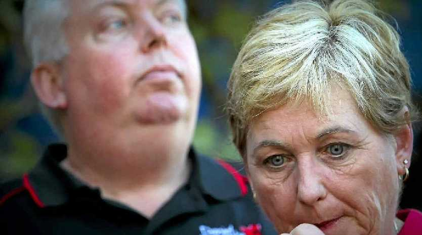 Denise and Bruce Morcombe front a press conference in August.