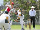 BITS' bowler Josh Walters sends down a delivery against Yaralla at the Yaralla Sports Ground. Walters claimed two wickets for 16.