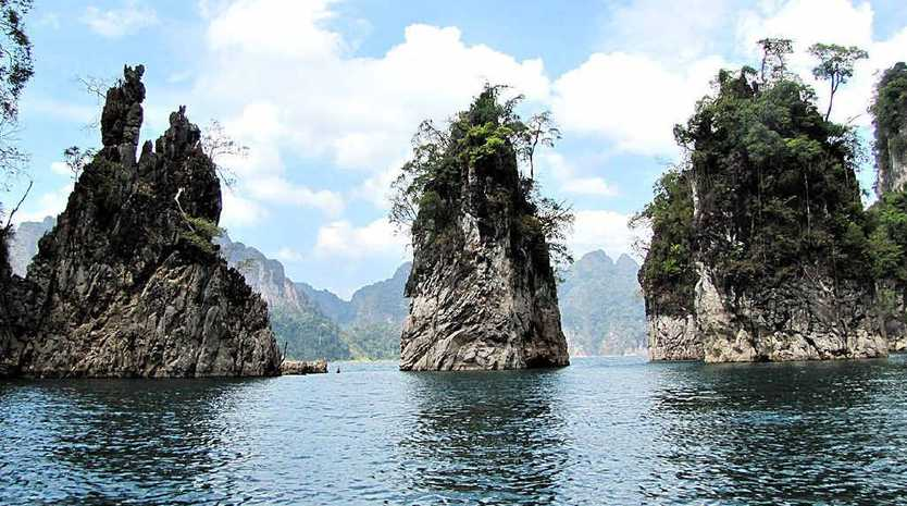 NATURAL WONDER: Limestone islands in Cheow Larn Lake.
