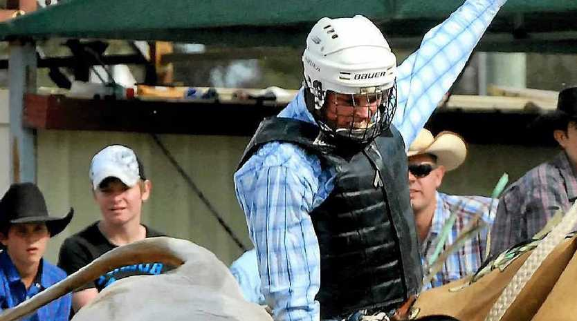 The crowd will get up close and personal with Scott Glasby who'll compete in the bull riding.