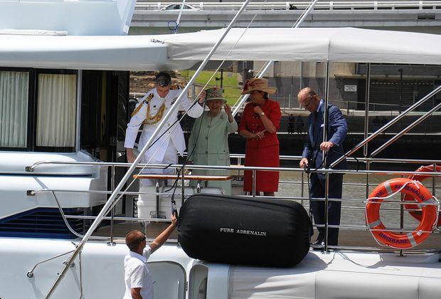 Queen Elizabeth II with Queensland Premier Anna Bligh during her recent visit to Brisbane.
