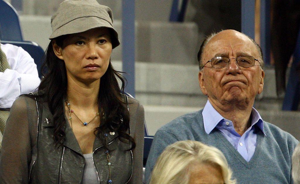 News Corp. Chairman and CEO Rupert Murdoch (right) and wife Wendi Deng Murdoch.