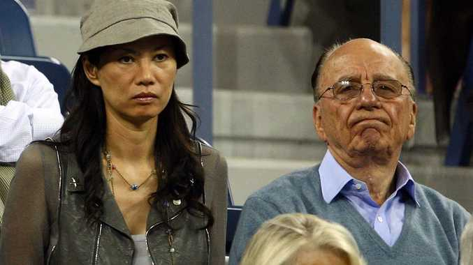 News Corp. Chairman and CEO Rupert Murdoch (right) and wife Wendi Deng Murdoch.
