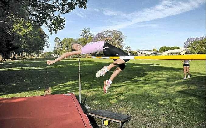 Sarah Harre, of McAuley Catholic College, won a gold medal in the under-13 girls' high jump at the New South Wales All Schools Athletic Championships.