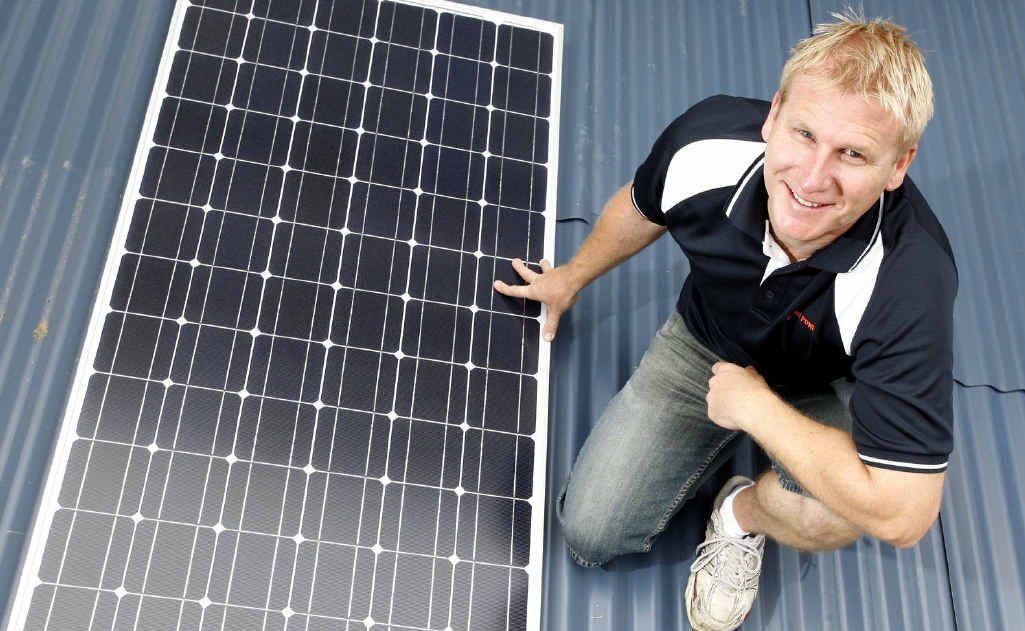 Ipswich Solar Power owner Darren Rosolak says business has been steady.