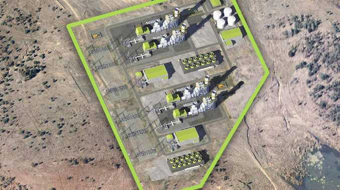 BIRD'S EYE VIEW: What TRUenergy's Aldoga gas-fired power station will look like.