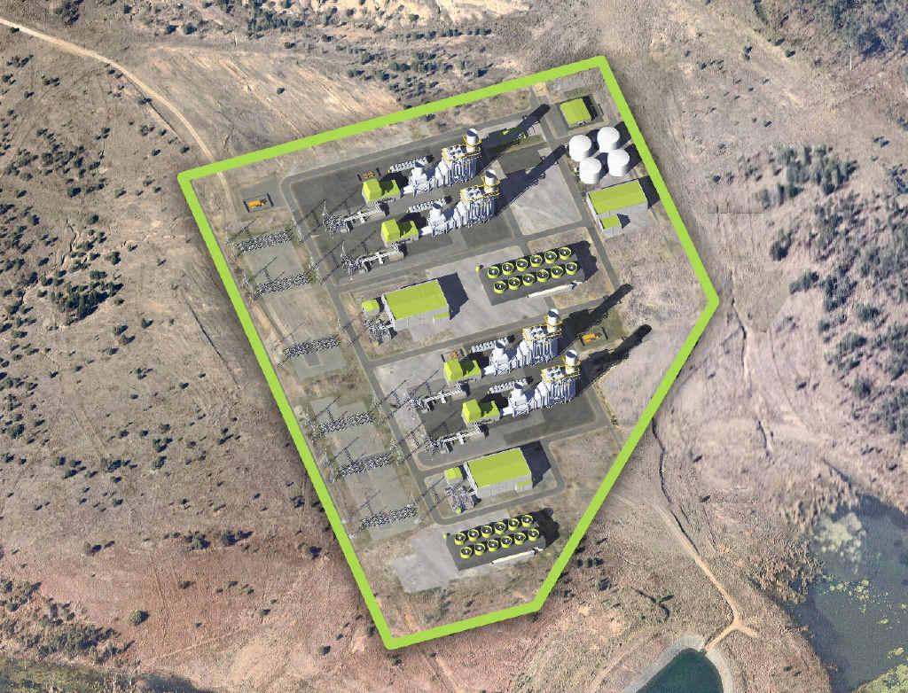 BIRD'S EYE VIEW: What TRUenergy's Aldoga gas-fired power station will look like.
