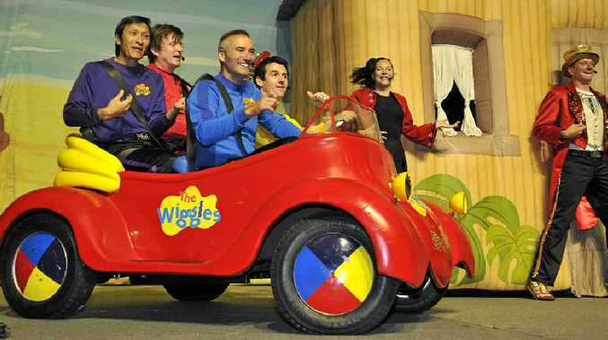 BIG RED CAR: The Wiggles bring their Big Birthday Tour to Toowoomba and entertain boys and girls of all ages with their song Big Red Car.
