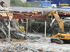 The old Coles building in the Ipswich CBD is demolished to make way for a massive new Coles superstore.