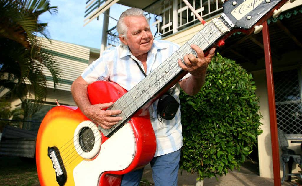 Nedd Dodd, who made the big guitar, is pleased it's back in the right hands after it was stolen.