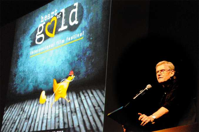 Malcolm Blaylock opening the 2011 Heart Of Gold film festival.