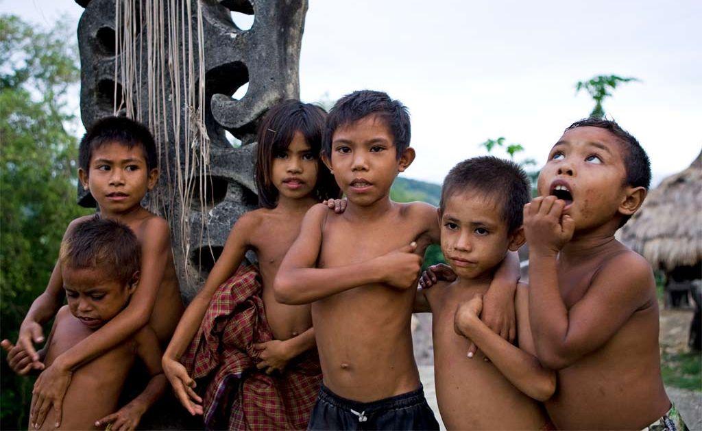 Children of the island of Sumba, Indonesia.