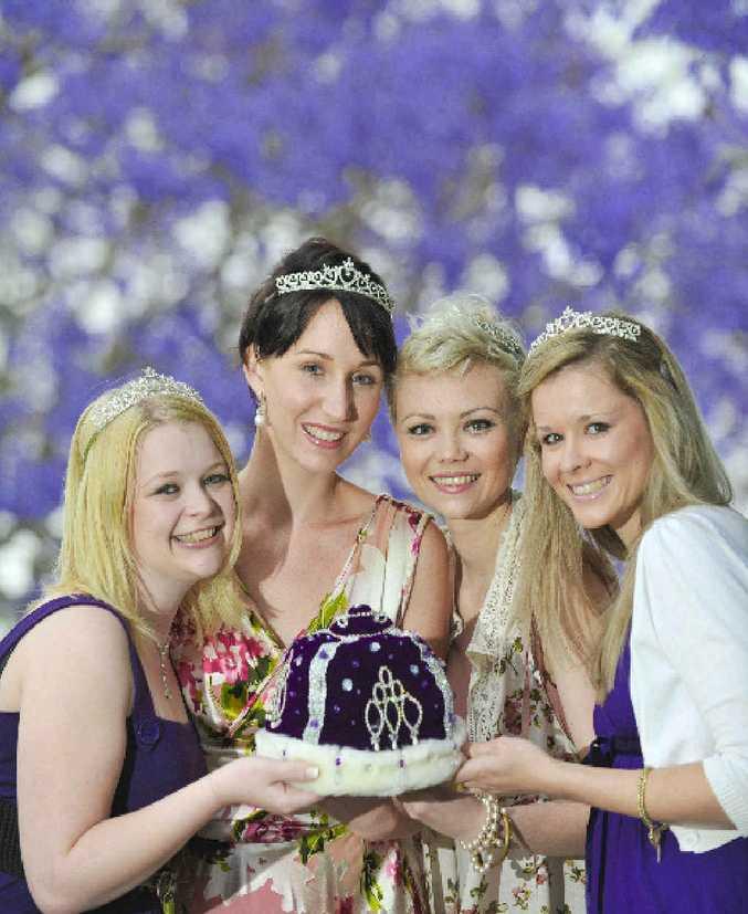 Jacaranda candidates for 2011 (from left) Natasha Lentfer, Lisa Jayde-Hunter, Gemma Moore and Nicole Mackie.