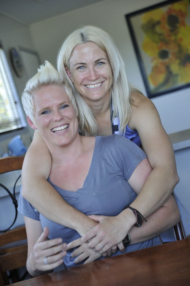 Kristal Johnston and Danielle Gillmeister, both 28, hope to get married one day.