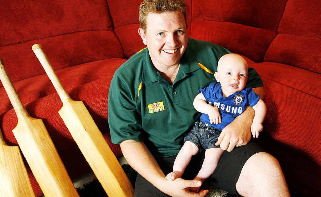 Ipswich cricketer Paul Milne is focusing on what's important to him, including his six-month-old baby Cooper.
