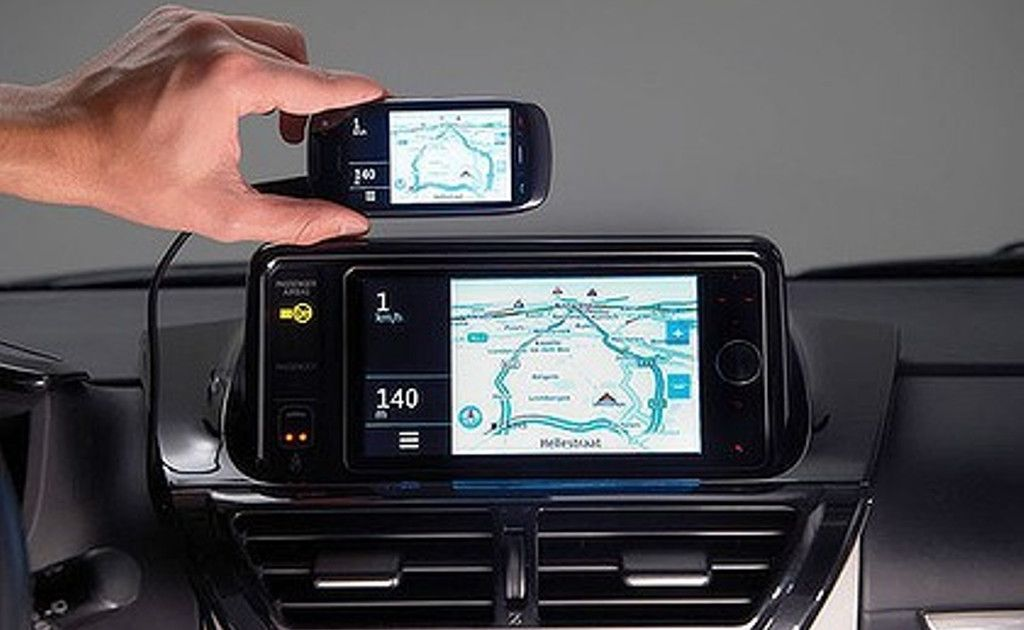 Touch Life can mirror a smartphone display on the dashboard of a car.