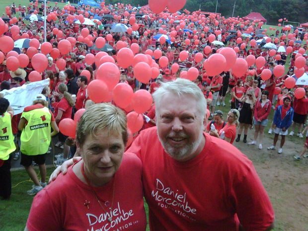 Bruce and Denise Morcombe at the Walk for Daniel