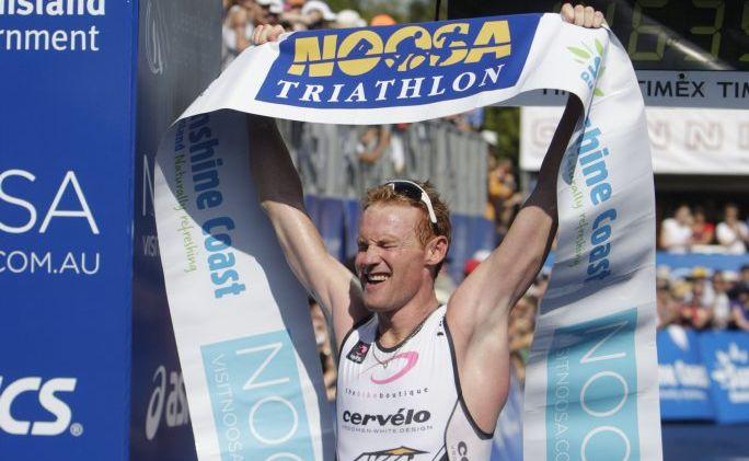 The Sunshine Coast's David Dellow wins the 2011 elite men's race.