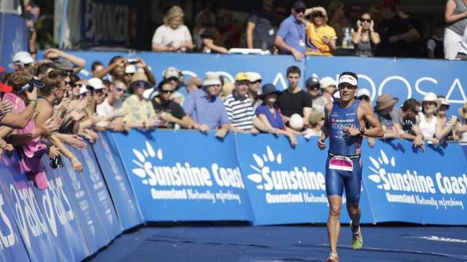 Noosa Triathlon Elite men's and women's race. Courtney Atkinson Photo: Cade Mooney / Sunshine Coast Daily