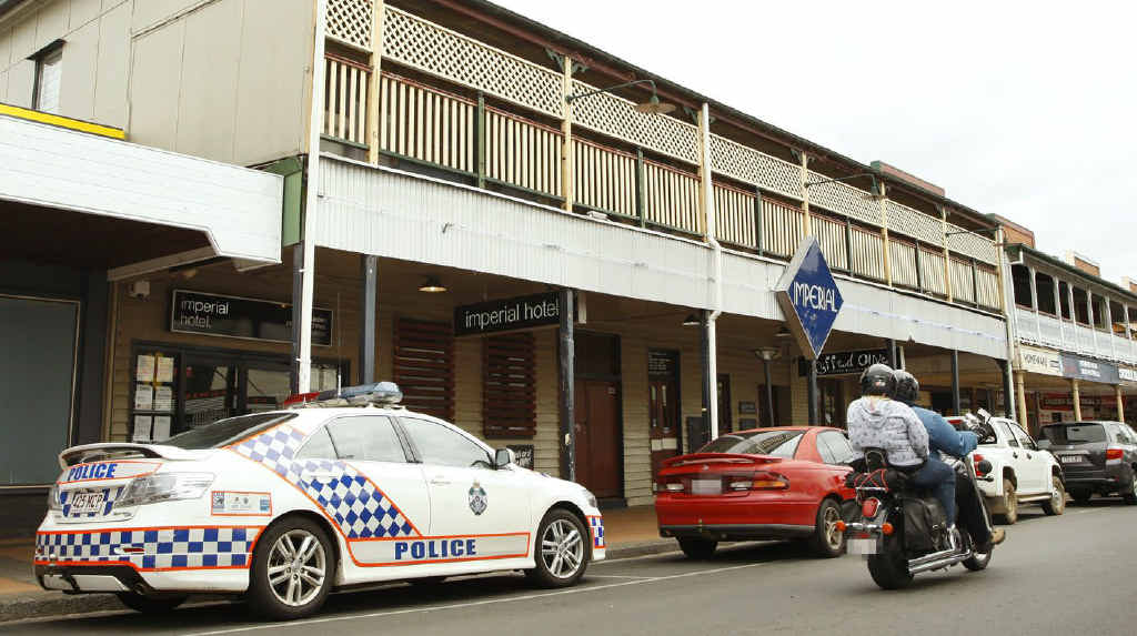 Police Detectives were at the Imperial Hotel in Gatton investigating the death of a man during an altercation on Friday night.