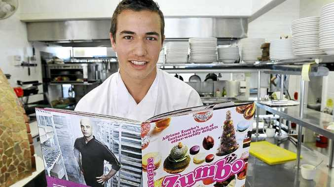 Alstonville high School student and trainee chef Dean Grebert, 16, of Clunes, has won a competition to work with his idol Adriano Zumbo.