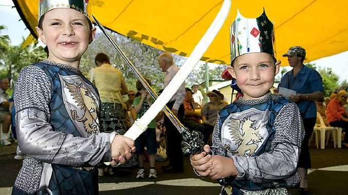 David (left) and Michael Gibbons had a fun day out at The Celtic Festival of Queensland.