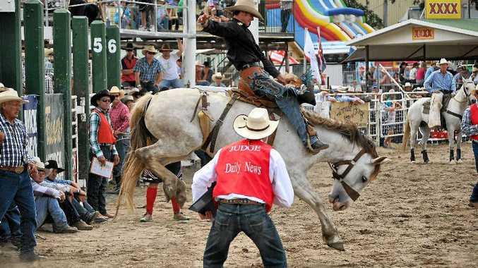 Warwick cowboy Lucas Wilson won the saddle bronc title.