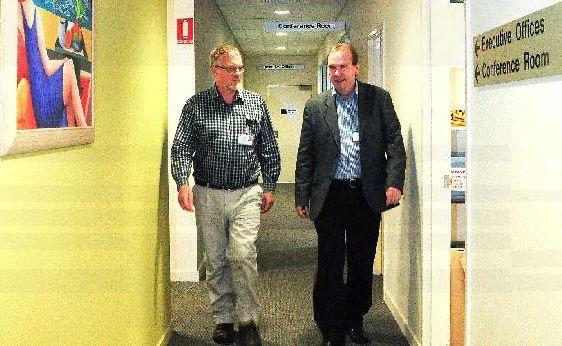 Palliative care specialist Dr David Bird with the manager of community and allied health for the Mid North Coast Local Health Network, Mark Wilson.