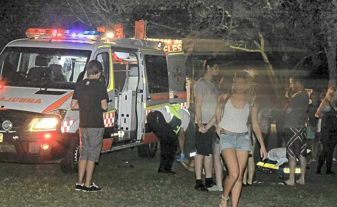 Police and emergency services were kept busy when brawls broke out on Saturday night.