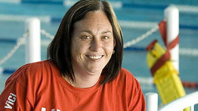 Toni West enjoys her job as a lifeguard at the Milne Bay Aquatic Centre in Toowoomba.