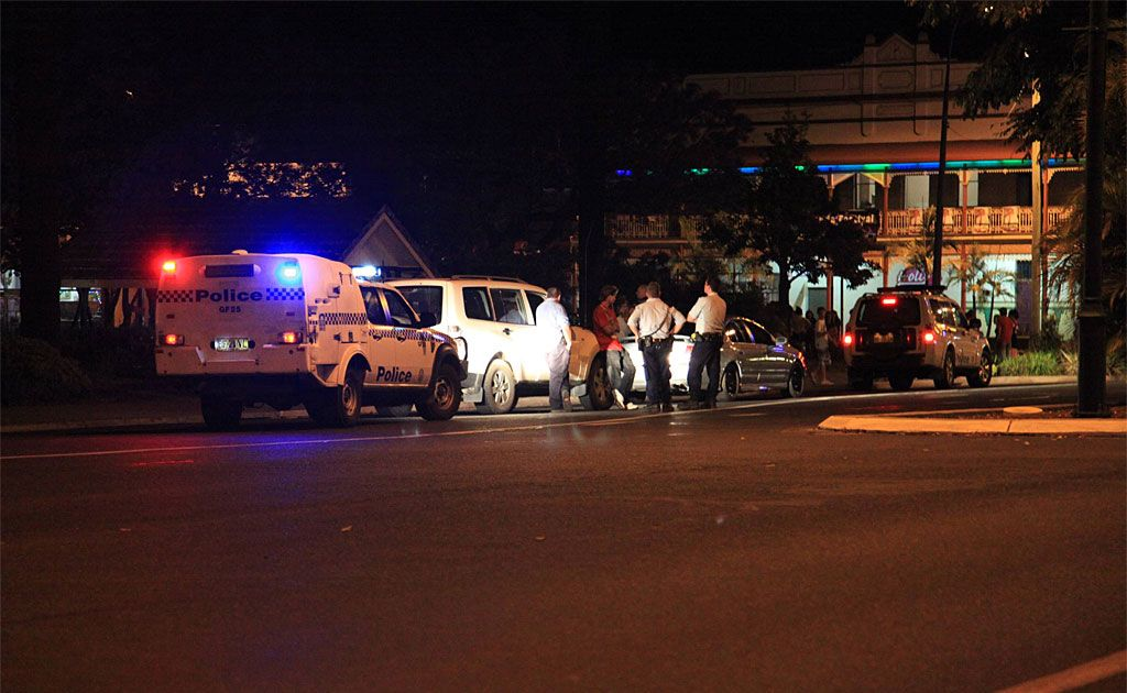 Police and emergency services were kept busy in Grafton on Saturday night when fighting broke out in Market Square.