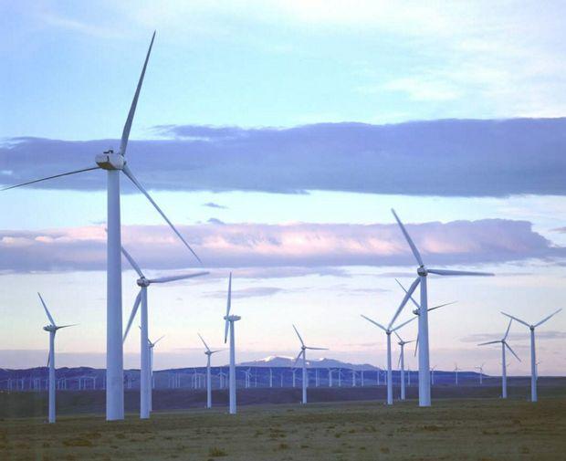 Wind energy farm.
