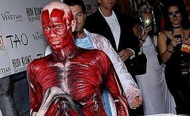 Heidi Klum arrives at her annual Halloween party.