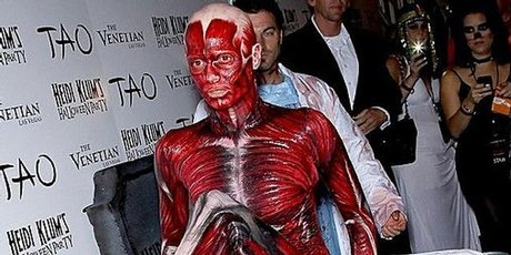 Heidi Klum arrives at her annual Halloween party.